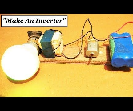 Simplest Inverter With Just a DC Motor 12V to 220V AC || Original Idea