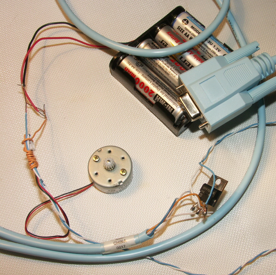 Serial Controlled Variable Speed Motor