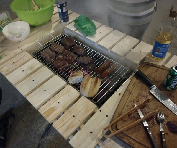 Cheap Grill Upgrade... No It Will Not Catch Fire!!!  ;)