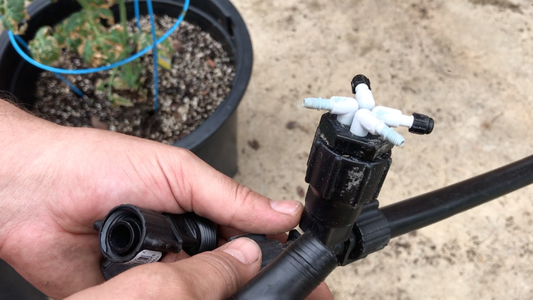 Connecting the Landscaping Tubes to a Stopper