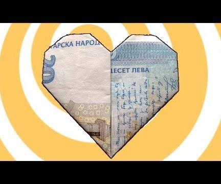 Easy Money Origami Heart