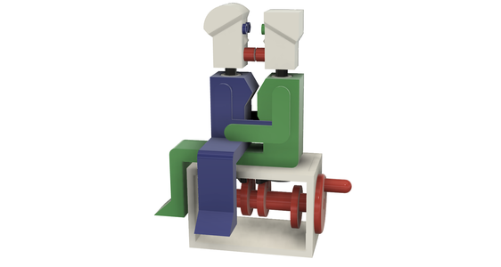 """Lora and I"", a Simple 3D Printed Automaton."