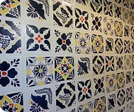 Faux Talavera Tile Backsplash