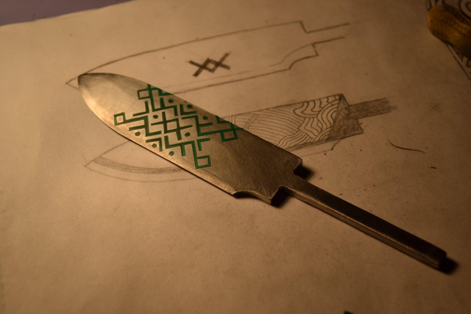 Blade Etching