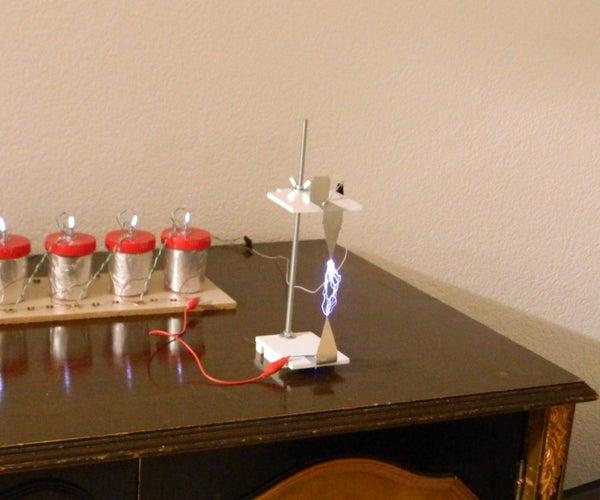 High Voltage  Marx Generator With Homemade Salt Water Capacitors