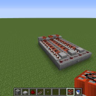 A Triple-shot Minecraft Cannon