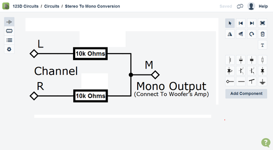 Combining L + R Channels for the Woofer