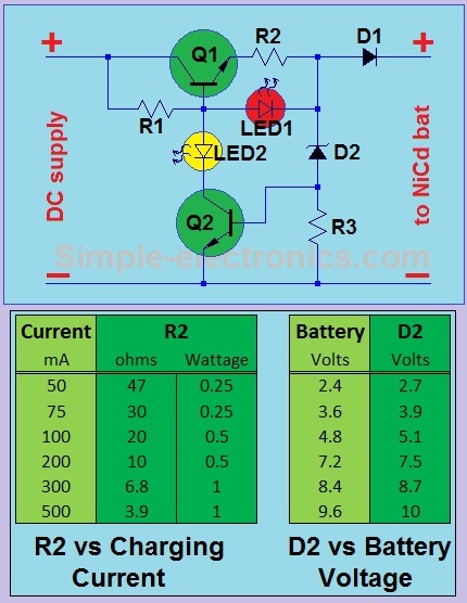 simple Ni-Cd battery charger