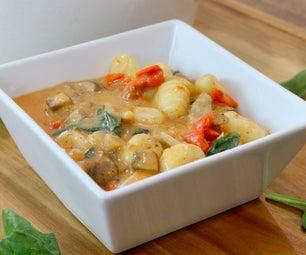 椰子泰国咖喱gnocchi