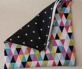如何缝制一个简单的拉链袋