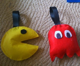 No-Sew Stuffed Pac Man Toy/Decorations