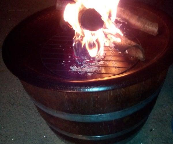 Wine Barrel Fire Pit