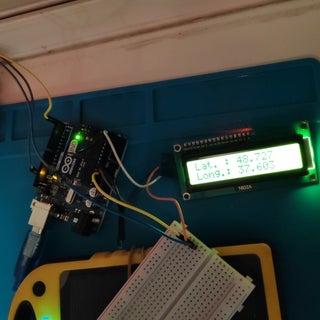 Arduino Nano: Show GPS Location on I2C 2 X 16 LCD Display With Visuino
