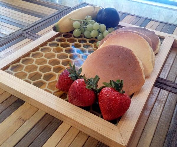 Resin Honeycomb Serving Board