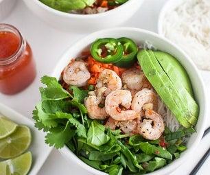 辣越南沙拉用大虾虾