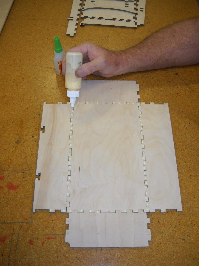 Lay Out the Pieces for the Lower Part of the Box