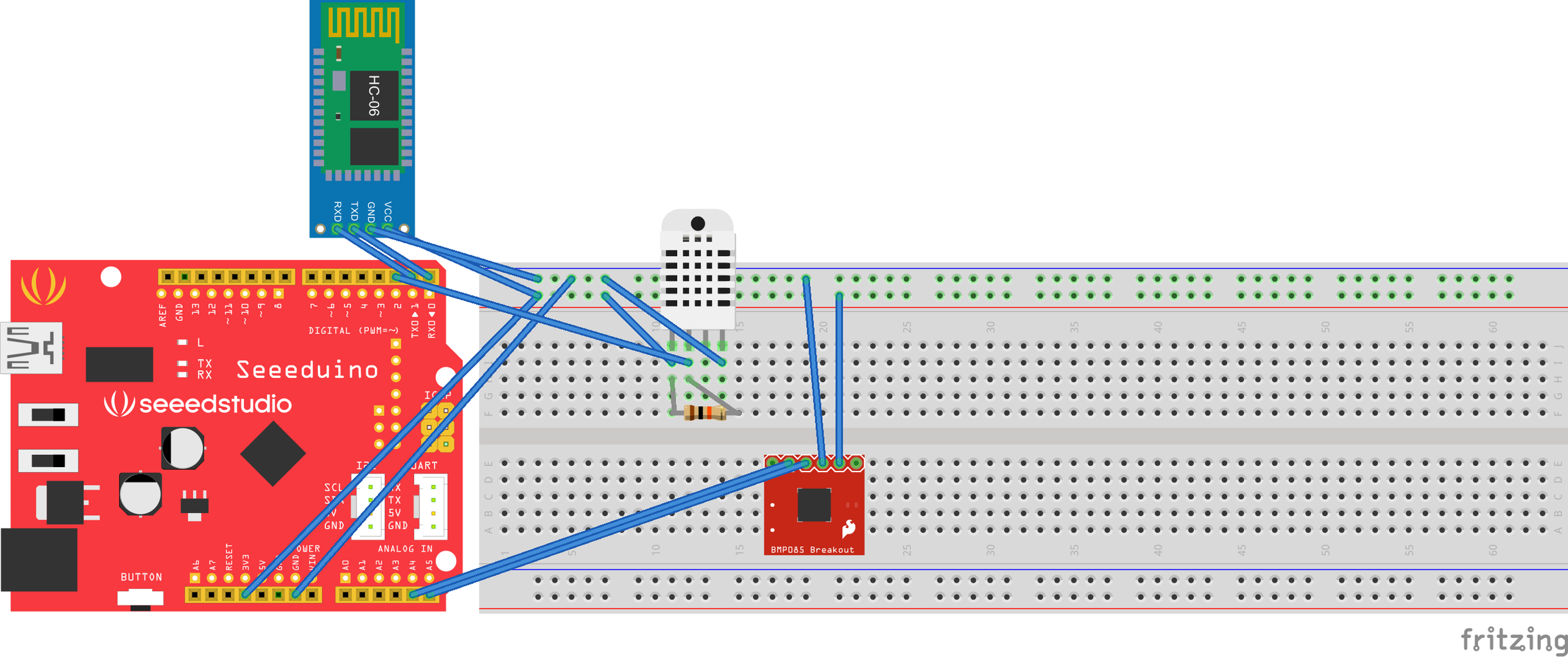 The Schematic for Working With Seeeduino or Any 3.3V Operating Board