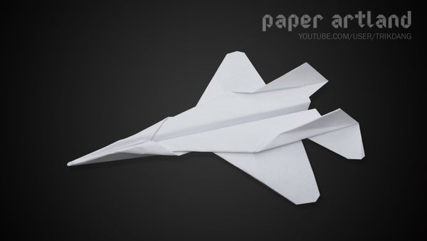 Paper Airplane Tutorial: How to Make the F-15   Flyable