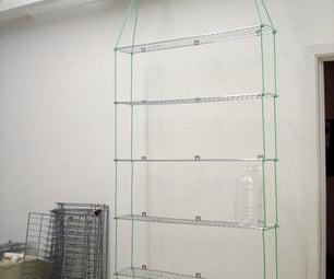 Scavenged Portable Hanging Shelves