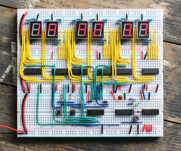 Common IC Breadboard Clock