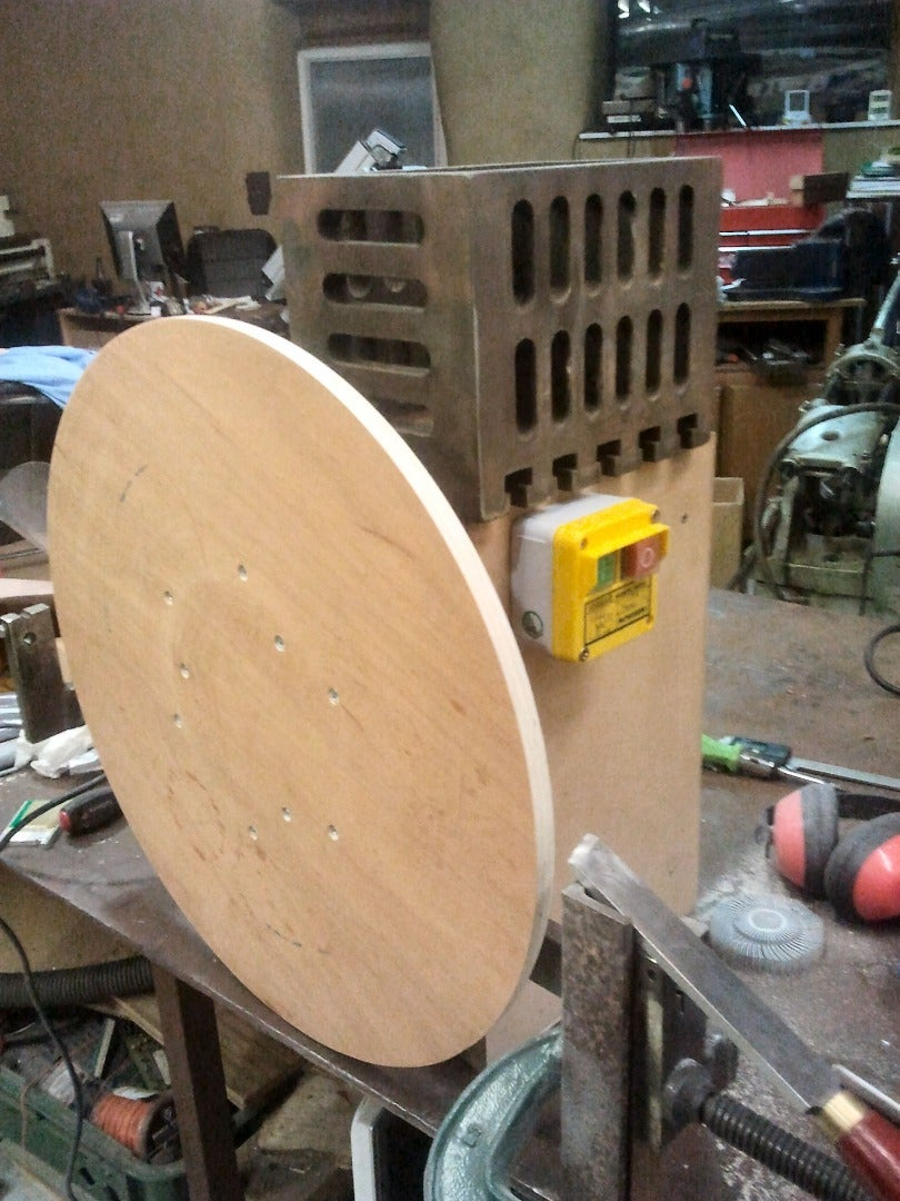 Truing Up the Ply Disk's Circumference