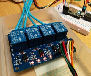 Spark Core Controlled Relay W/ Web Panel
