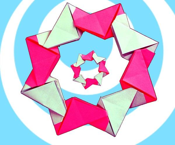 Easy Modular Origami Wreath (8 Units)