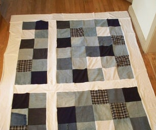 Recycled Clothes (Jeans) Quilt