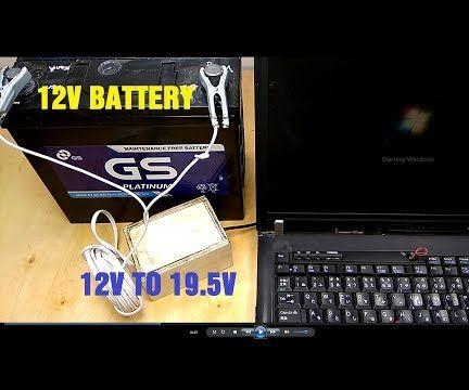 Running Laptop With 12V Battery | External Power Supplies 12V to 19 5V Inverter Circuit