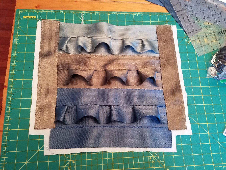 Trim Fabric Around Seatbelt Material