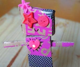 Cardboard Robot With Pop Tab Circuit