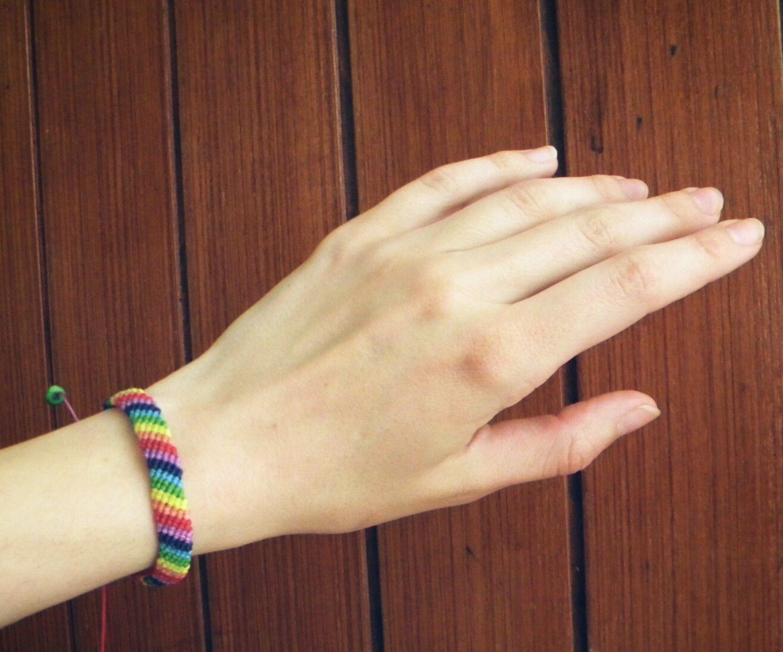 Rainbow macrame bracelet
