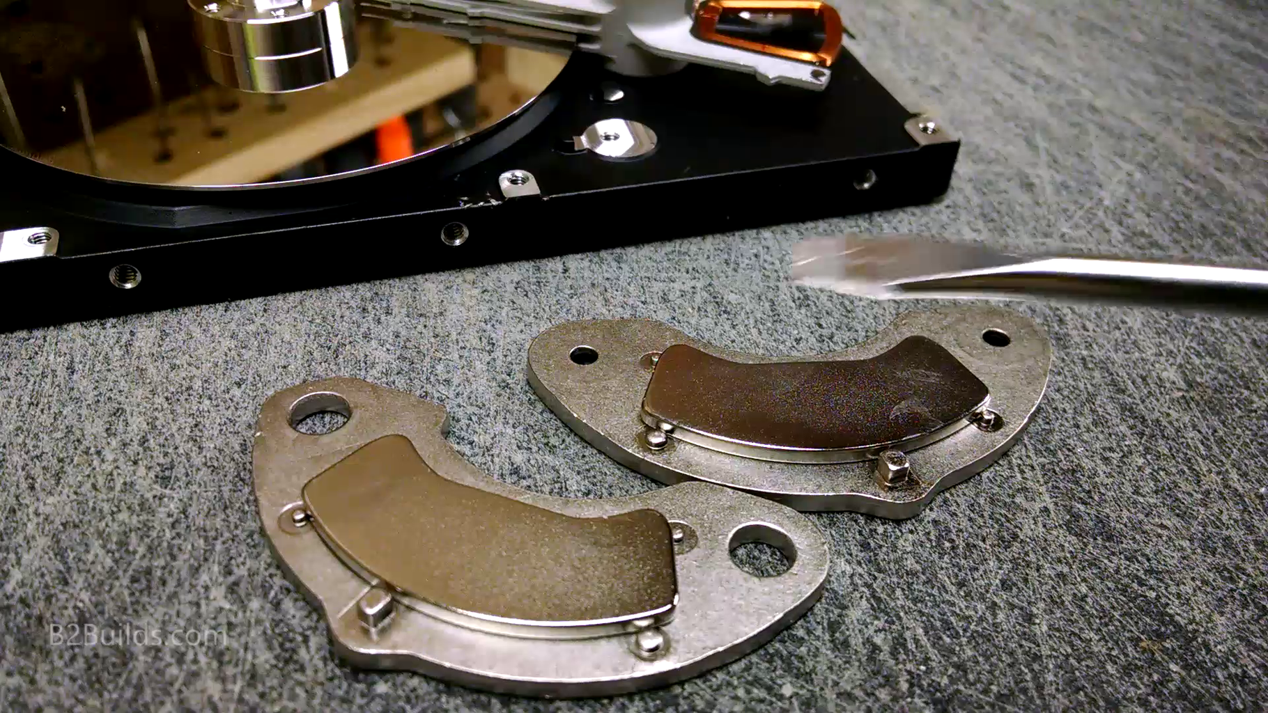 Gathering Hard Drive Magnets and Aluminum