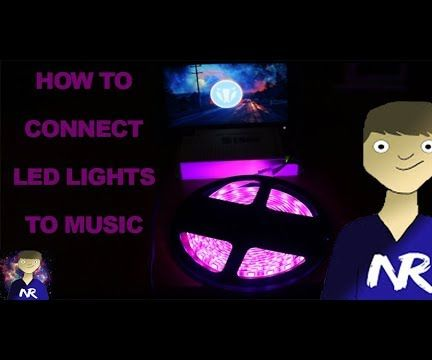 LED Lights Connected to Music