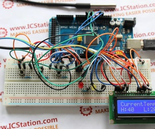 Handheld Water Temperature Monitoring System Based on ICStation ATMEGA2560