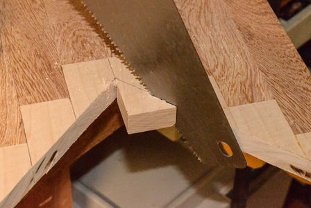 "Cut a ""V"" in the Glued-up Board."
