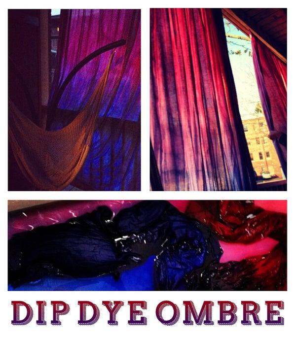 Dip Dye Ombré Curtains