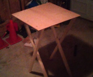 Simple Mobile Folding Work Table