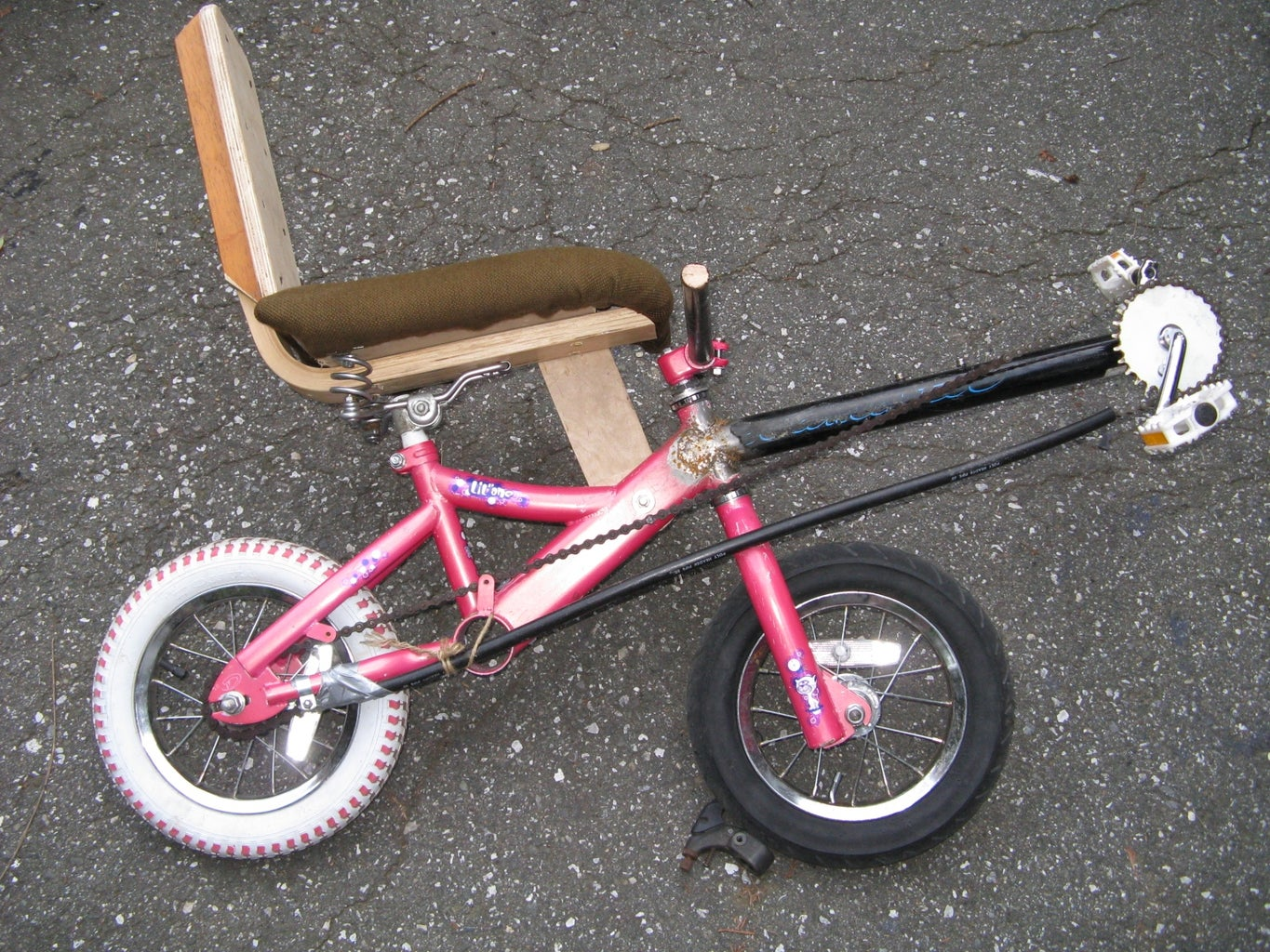 Add Seat Brace and Adjustable Seat-back