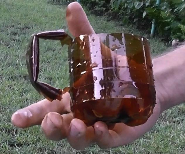 Plastic bottle mug