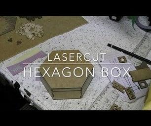 Lasercut Hexagonal Box