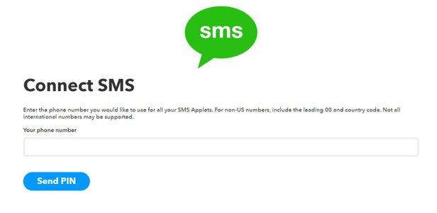 Configure SMS Applet: