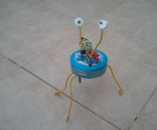 Candy Box (Altoids) Vibrobot With Eyes and Face