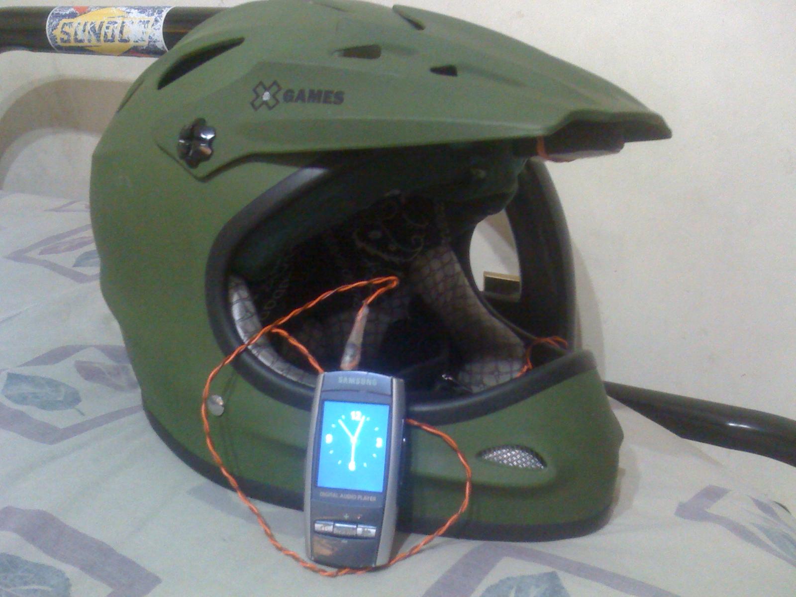 helmet speaker mod
