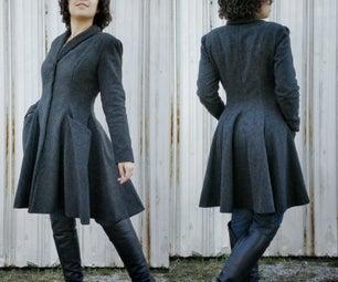 Charcoal Gray Winter Coat