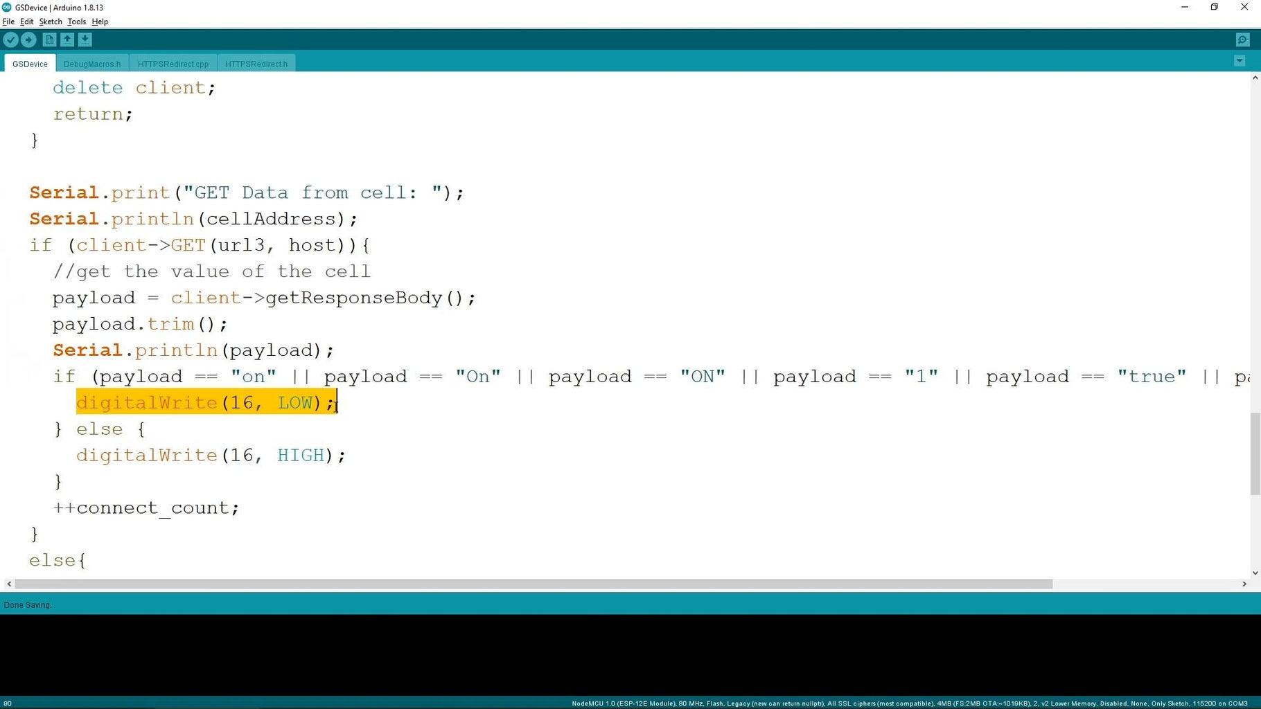 Prepare the Arduino Code for the NodeMCU