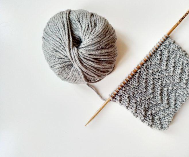 How to Knit Chevron Seed Stitch