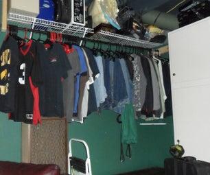 Finishing & Furnishing a Basement Using Spare Change Part 1: Closet Space