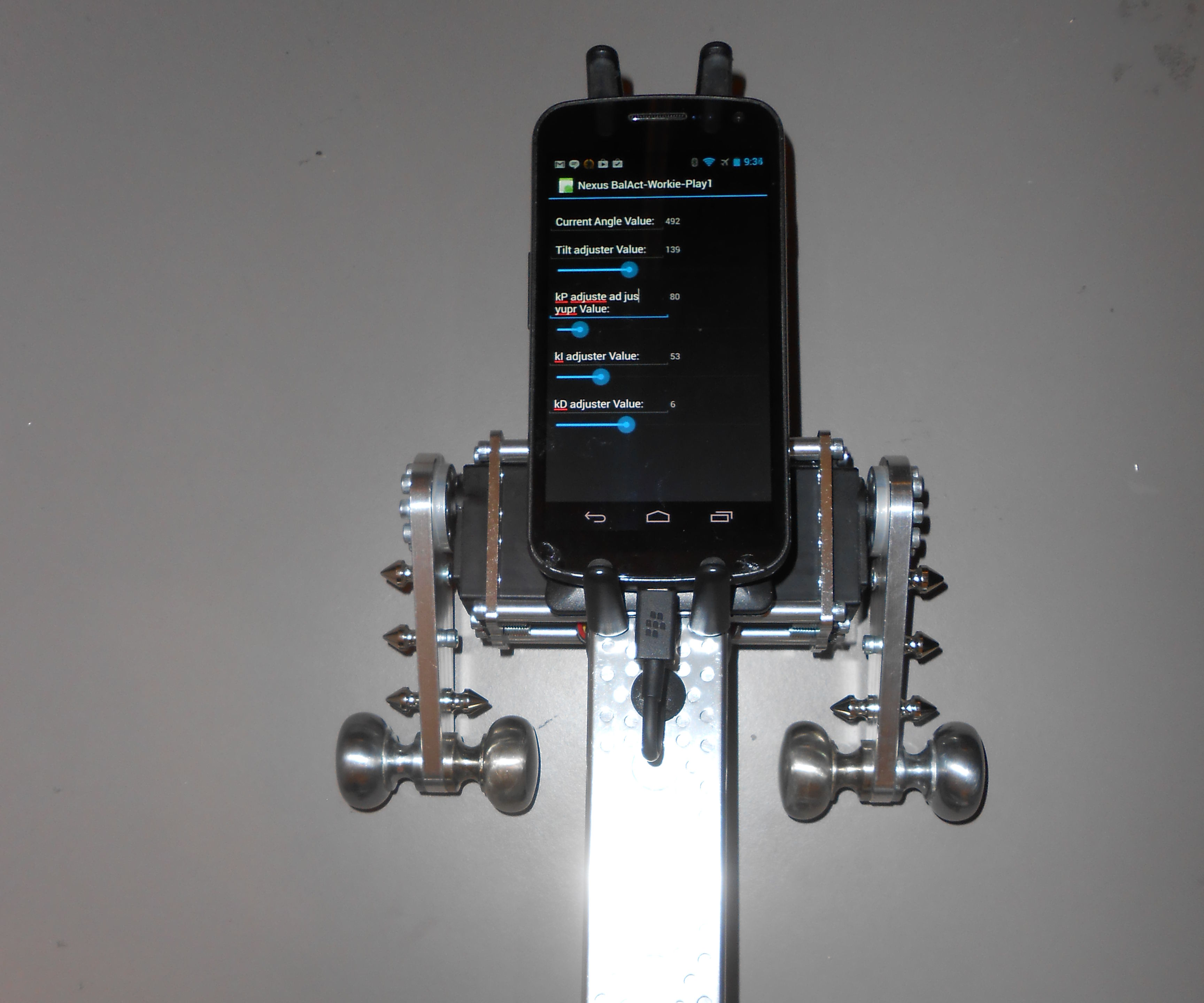 Baldroid v3 Balancing Robot with Actobotics parts and IOIO-OTG