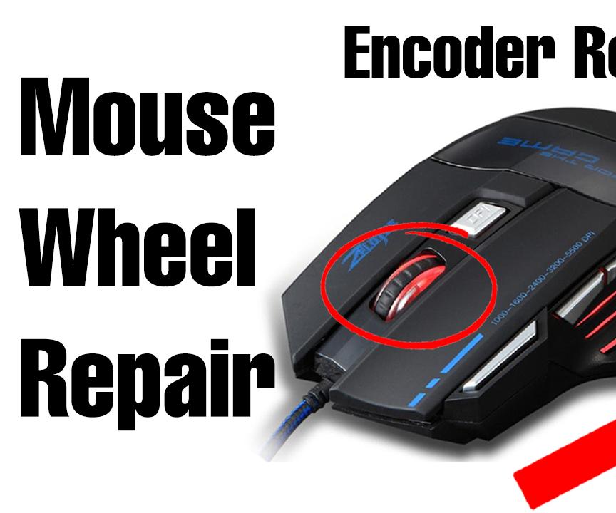 "How to Repair the Mouse Wheel ""Scroll"" (Encoder Repair)"